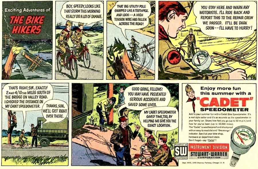 Cadet Speedometer comic