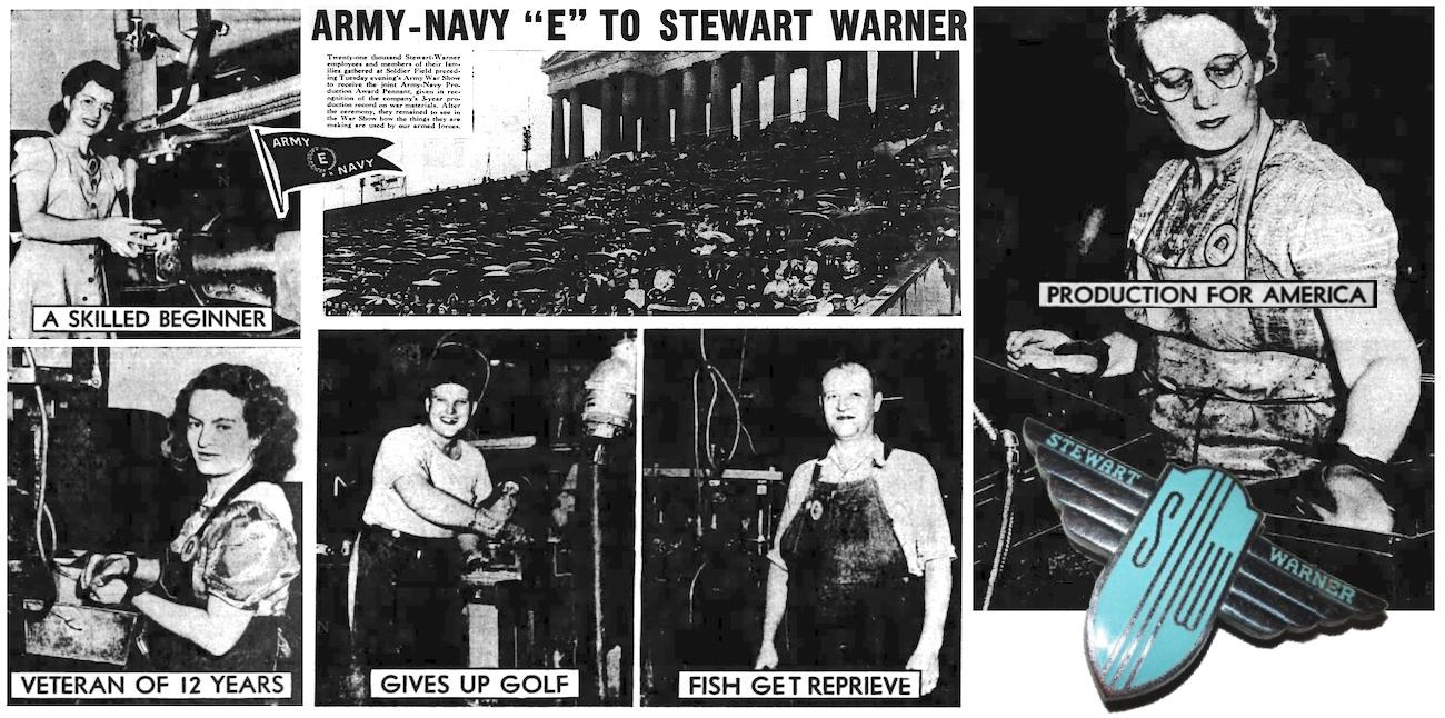 Stewart Warner factory workers WWII