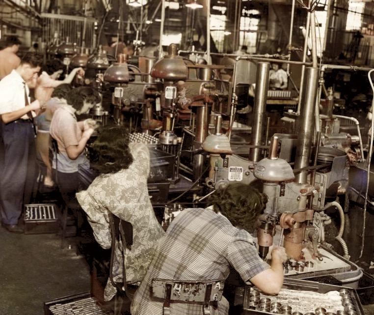 Stewart Warner factory workers