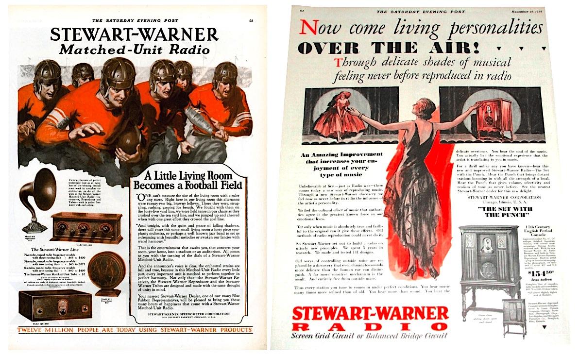 Stewart Warner radio ads