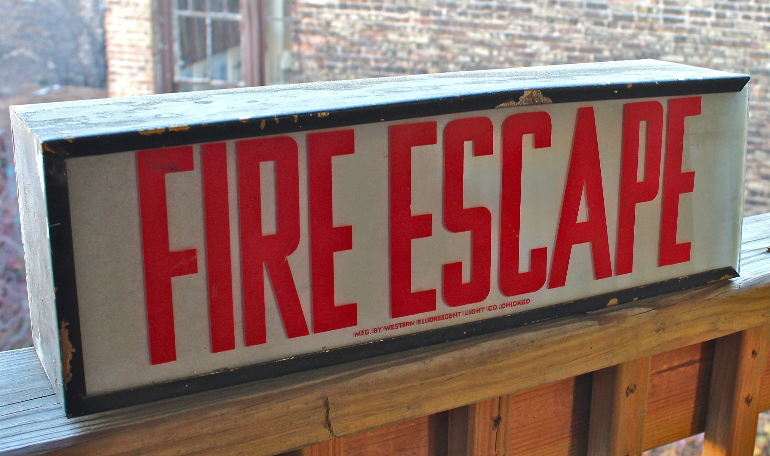 Western Fluorescent Light Co - Fire Escape Sign