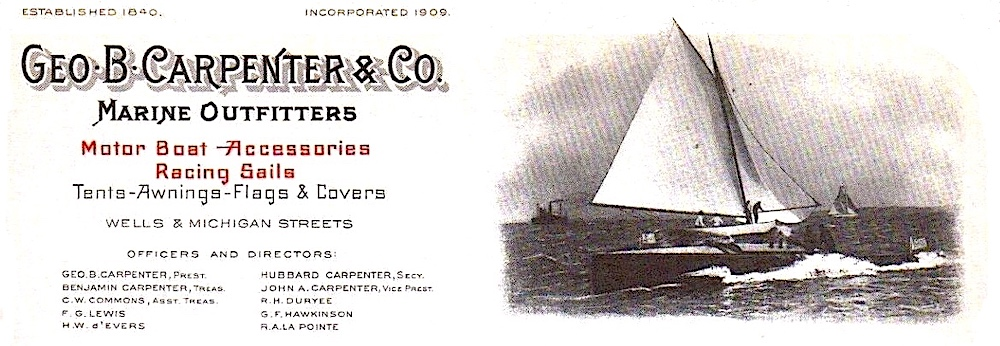 Geo B Carpenter 1913 letterhead