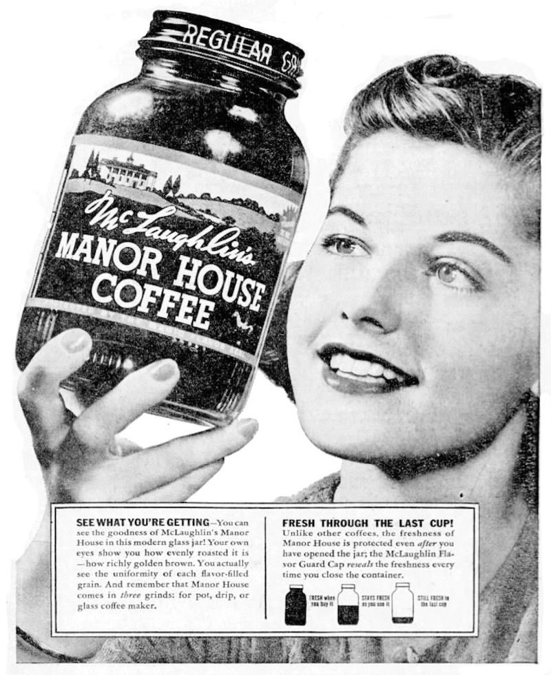 manor house coffee 1940 ad