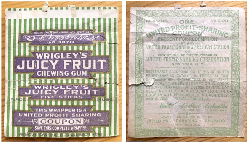 Vintage Wrigley Juicy Fruit Wrapper