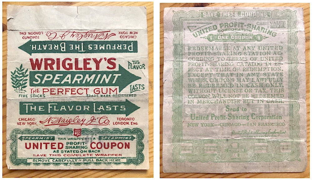 Vintage Wrigley Spearmint Wrapper