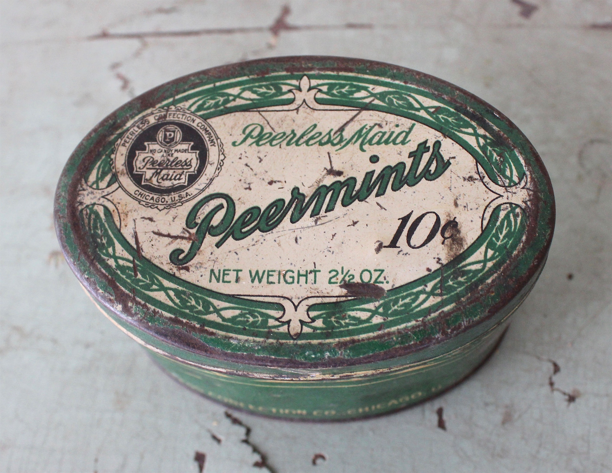 Peerless Maid Confection History - Peermints