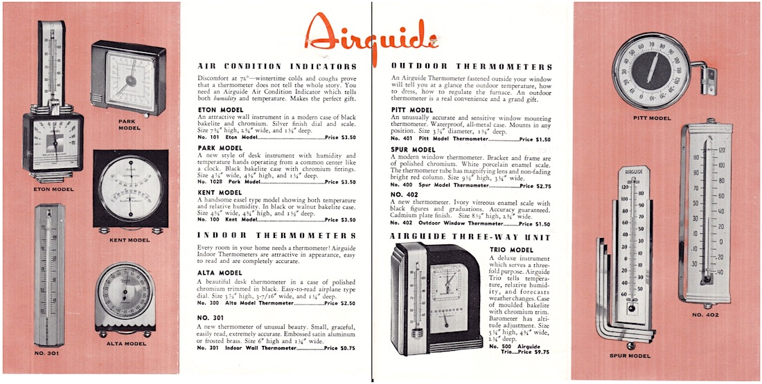 Airguide instruments 1938
