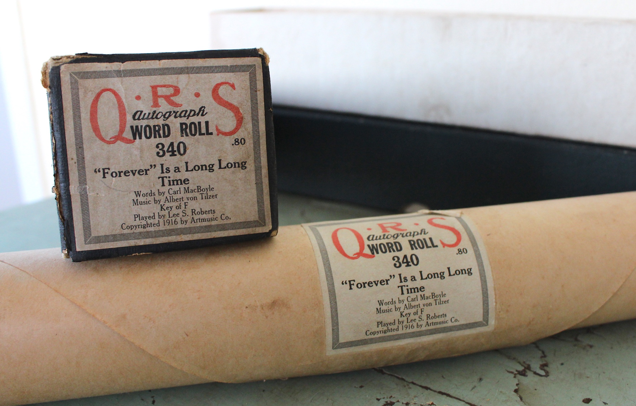 QRS piano roll history