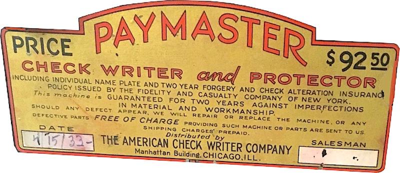 American Check Writer