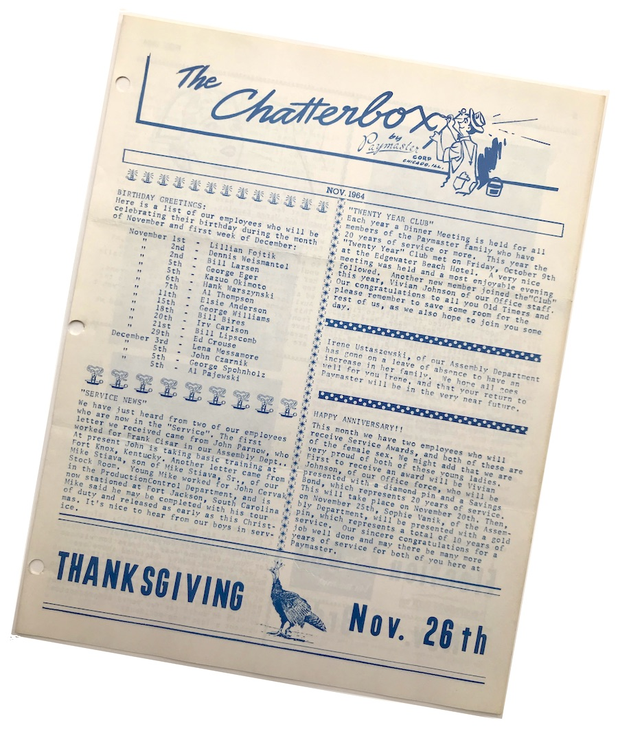 Paymaster Chatterbox