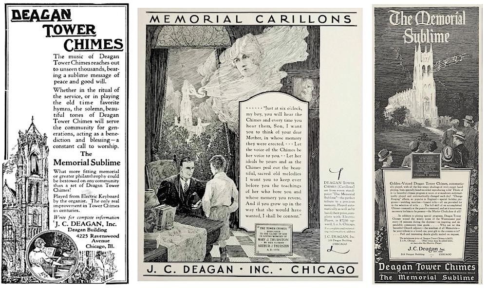 Deagan Carillon ads