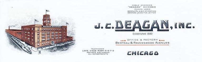 J. C. Deagan letterhead