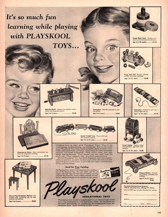 1952 playskool ad