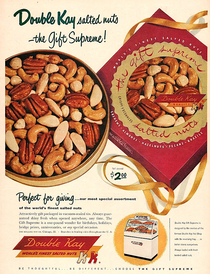 1953 Double Kay Nuts ad