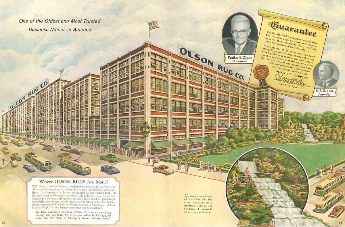 Olson Rug Factory 1957