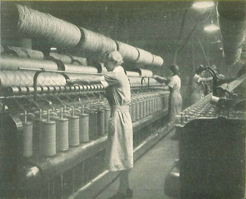 Olson Rug Factory workers