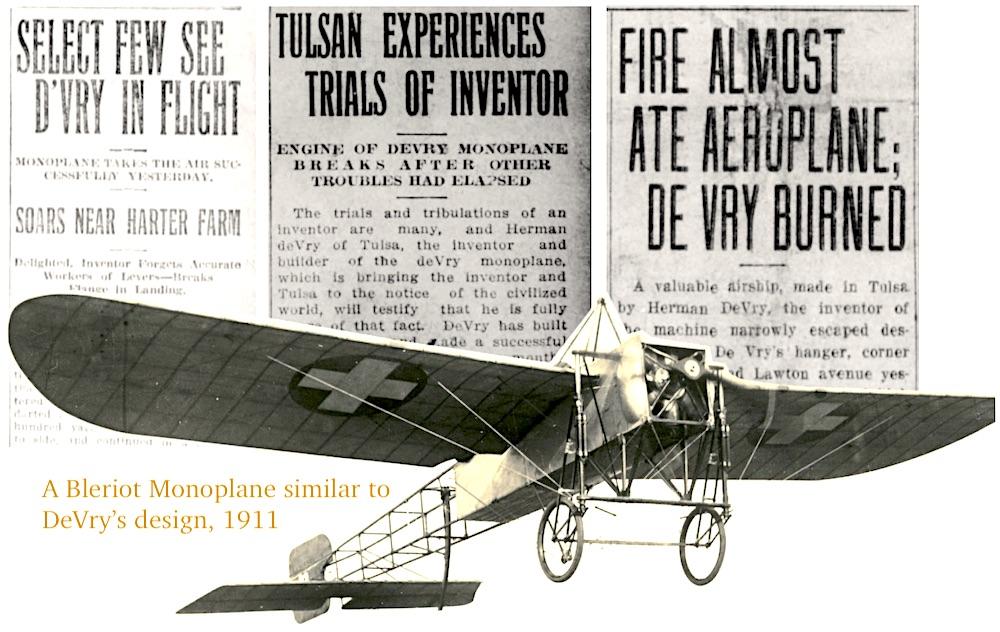 Herman DeVry Tulsa monoplane