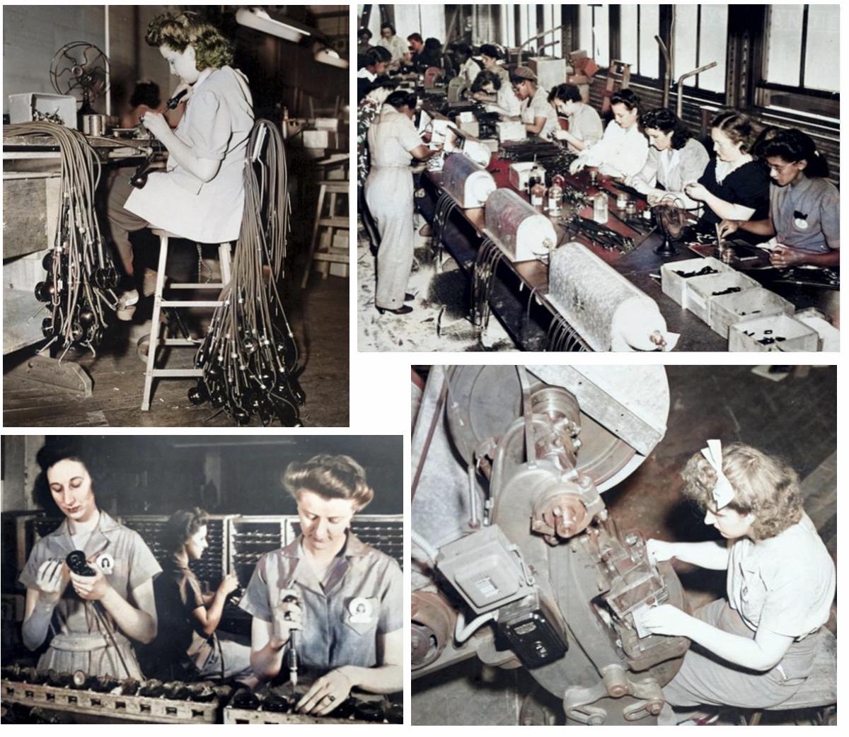 Shure factory workers World War II