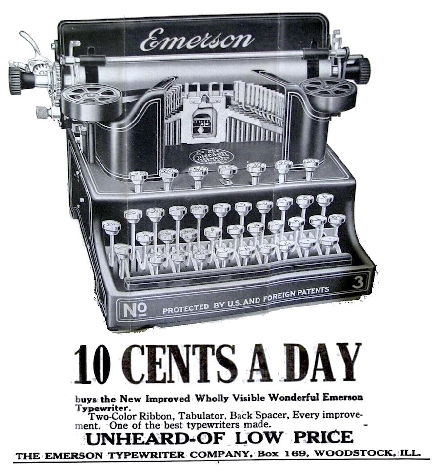 emerson typewriter
