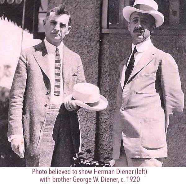 George and Herman Diener