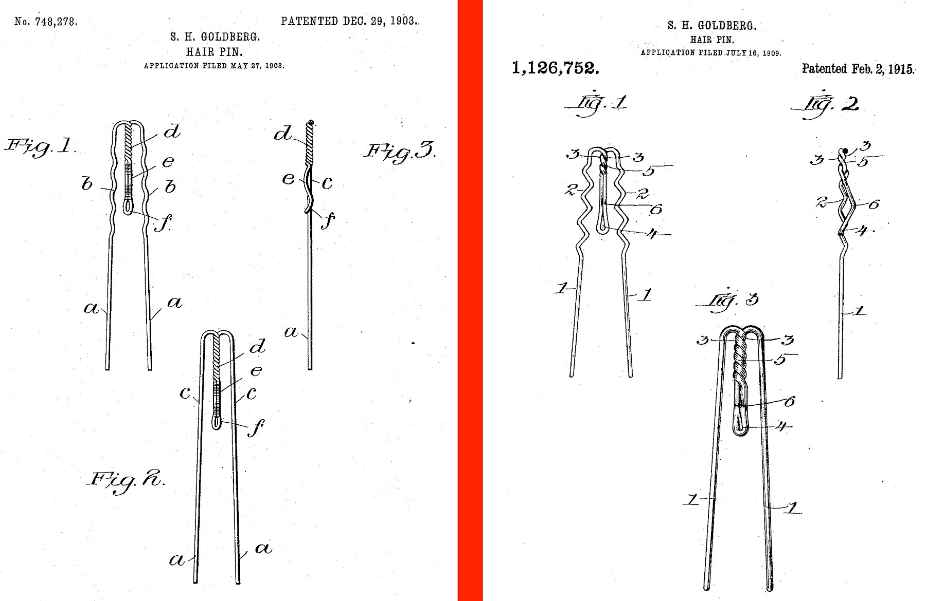 Hump Hairpin patent