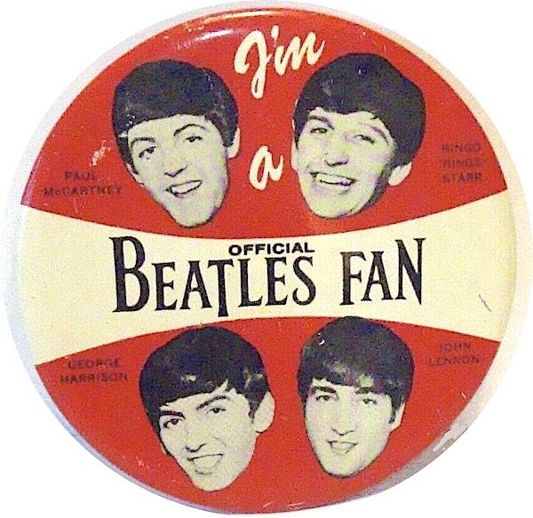 Green Duck Beatles Button