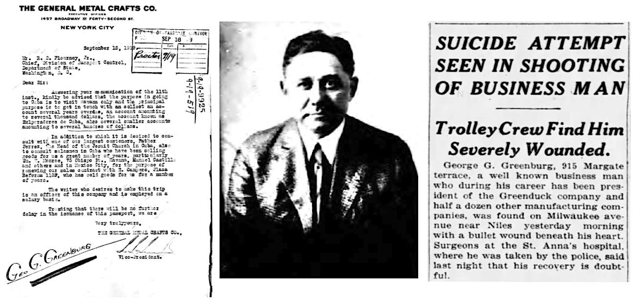 George Greenburg suicide 1922