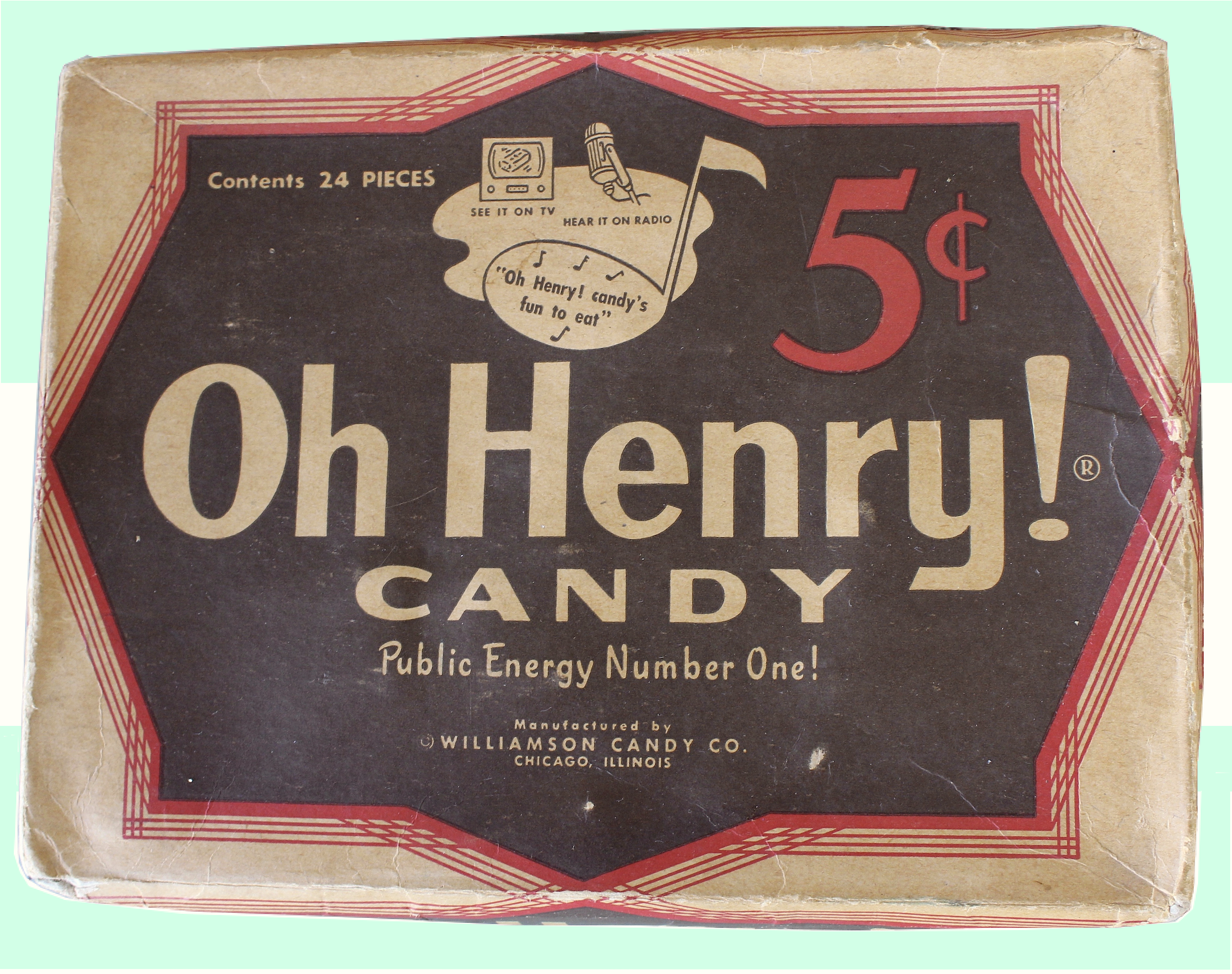 Oh Henry candy box