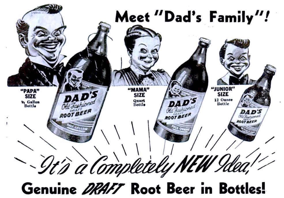 "12/"" DAD/'S ROOTBEER SODA CBOTTLE CAP POP MACHINE DECAL"