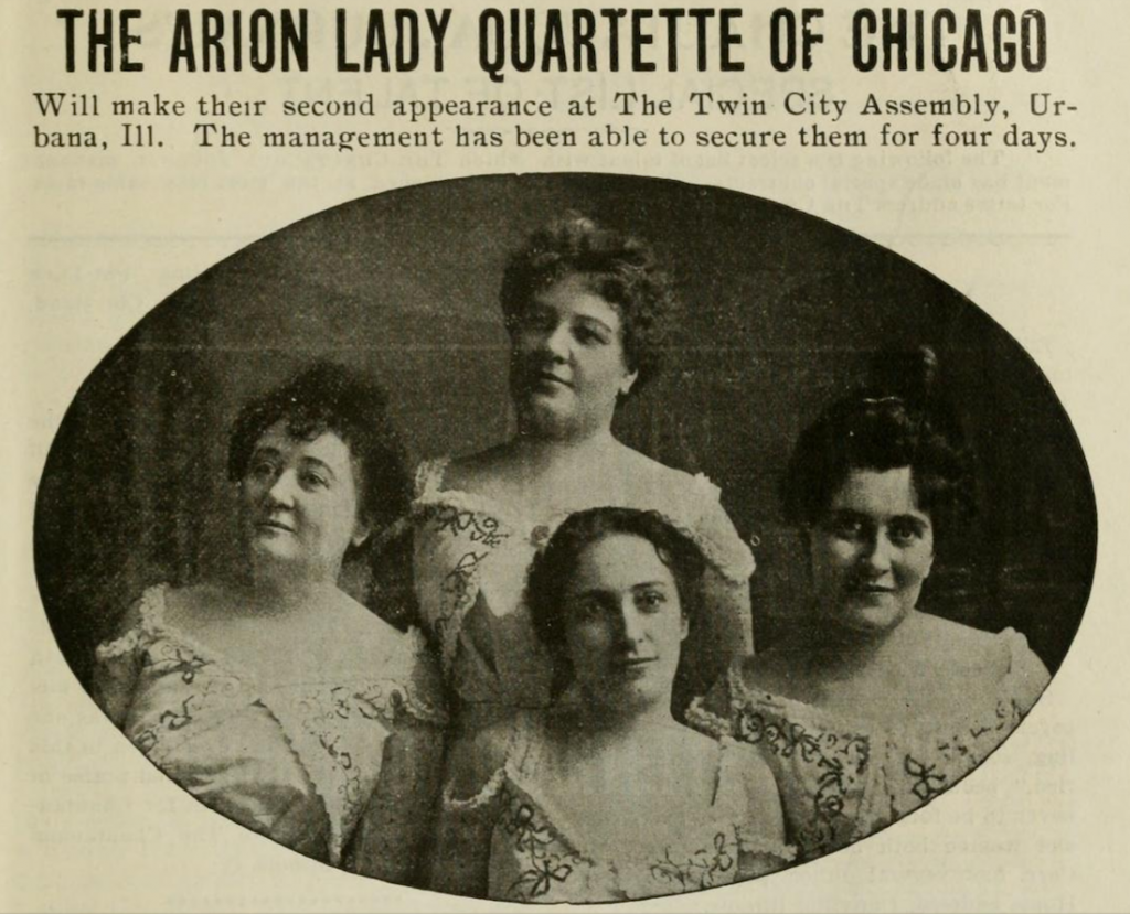 Arion Lady Quartette of Chicago