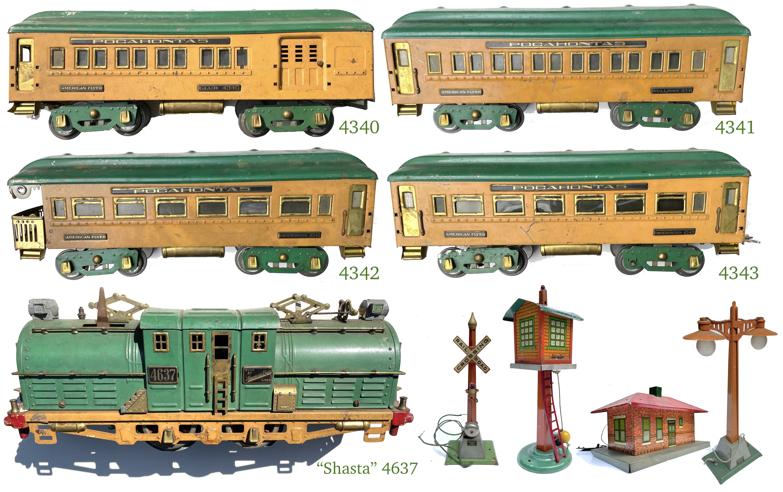 American Flyer Pocahontas train set