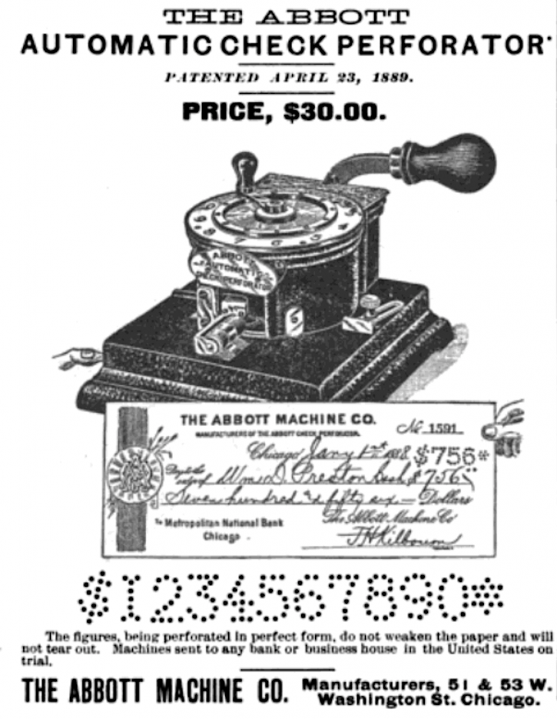 Abbott Automatic Check Perforator