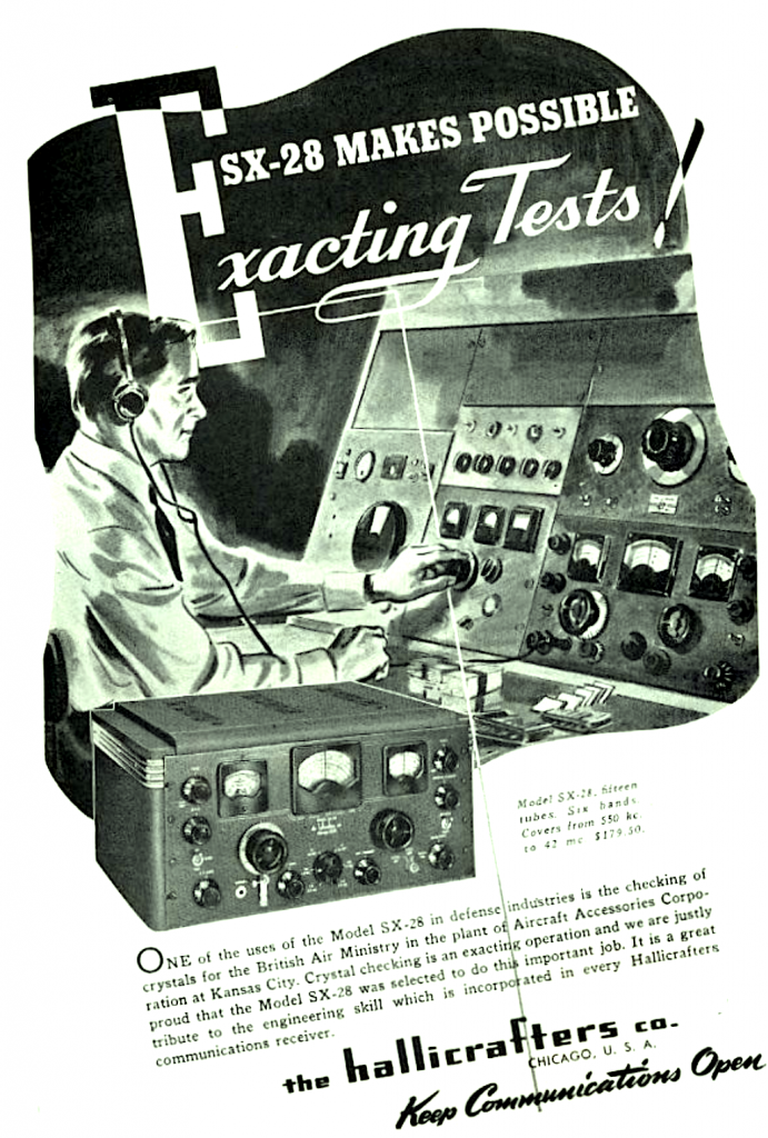 Hallicrafters SX-28 ad