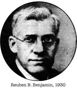 Reuben B. Benjamin 1930