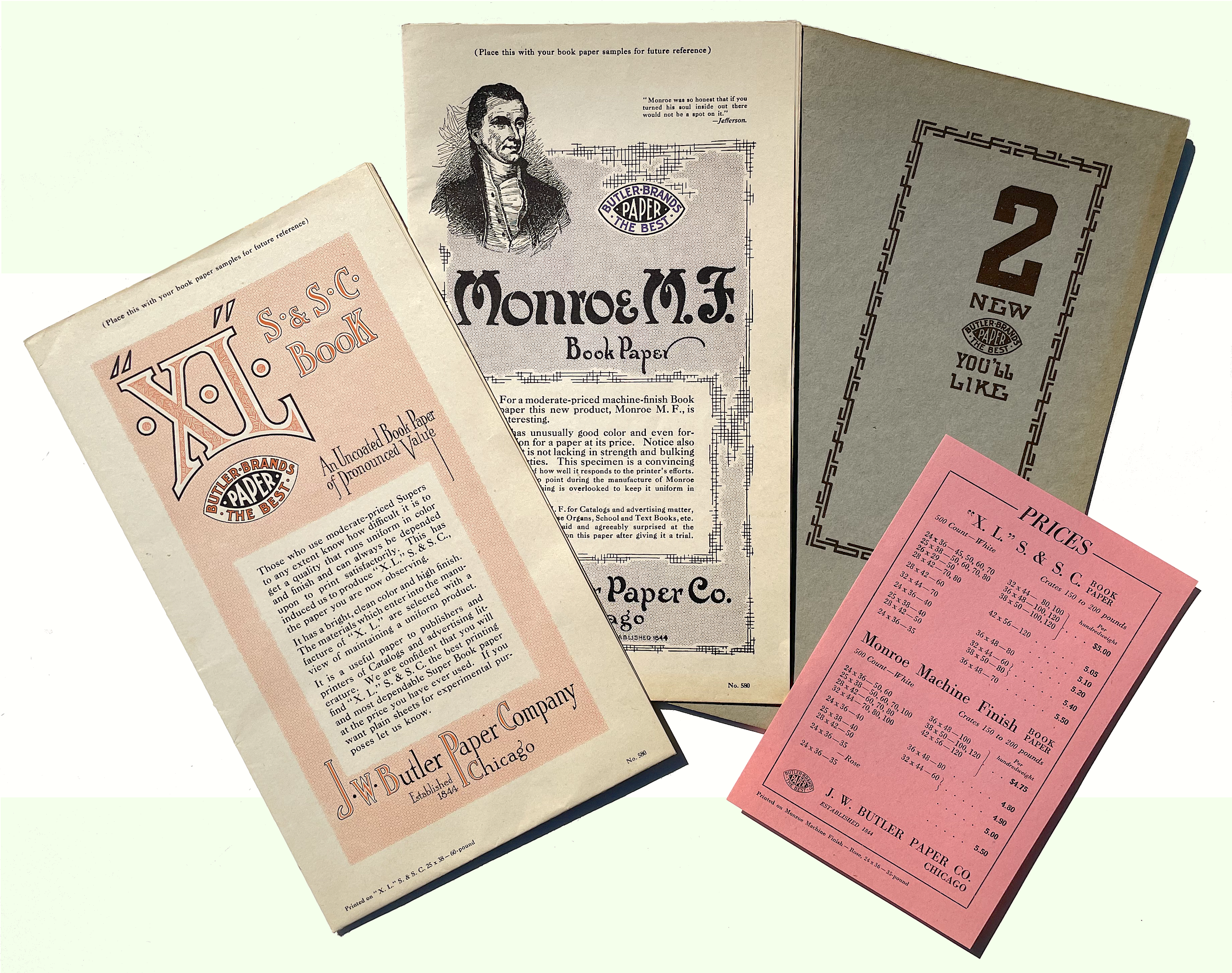 J. W. Butler Paper history