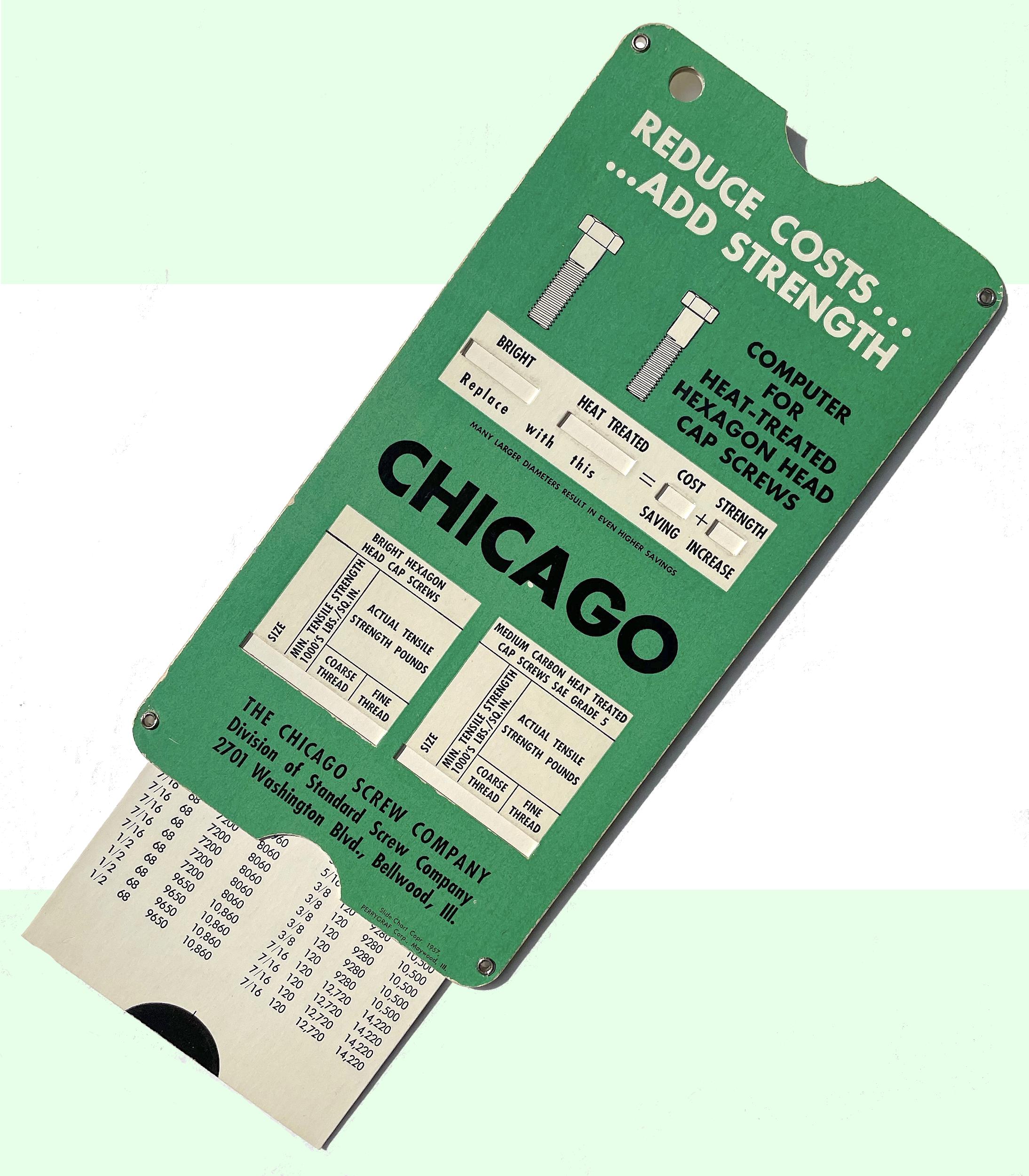 Chicago Screw Company, est. 1872
